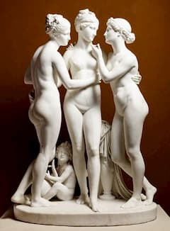 Cupid and the Three Graces by Bertel Thorvaldsen