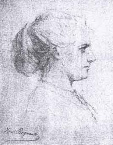 Augusta HolmèsSketch by Henri Regnault (1843-1871)