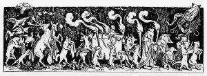 Schwind_Begraebnis-The-Hunters-Funeral-Procession-March-Des-Jagers-Leichenbegangnis-ein Totenmarsch-inCallotsManier