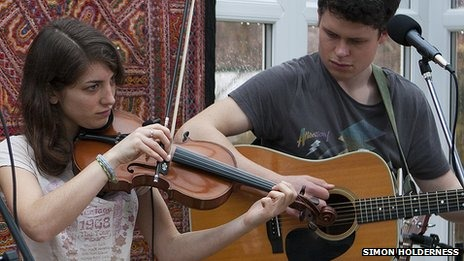 Folk act Gilmore and Roberts attracted a record attendance at Turners Hill