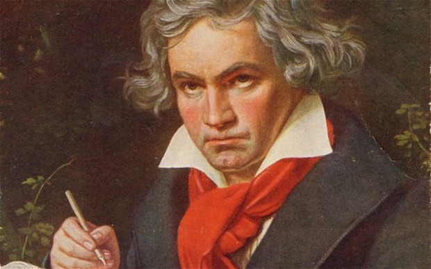 Dramatic: detail from a portrait of Beethoven by JK Stieler. Photo: Alamy