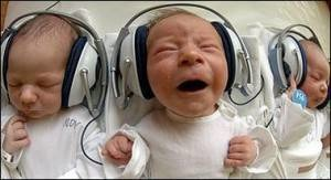 Israeli newborns enjoying Mozart