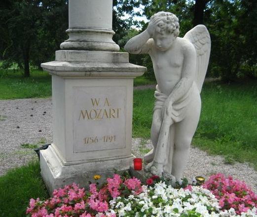 Mozart's grave at St Marx Cemetery, Vienna