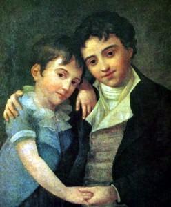 Franz Xaver with elder brother Karl Thomas