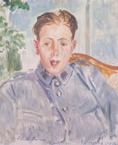 Portrait of Poulenc, Aquarelle, 1920.