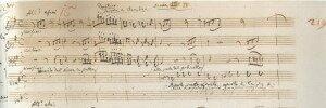 Mozart - nozze autograph
