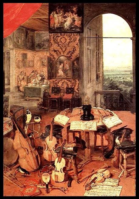 "Breughel and Rubens: ""Hearing"" from ""The Five Senses"" detail (1618)"