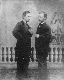 George Cooper with Stephen Foster Credit: http://www.stephen-foster-songs.de/
