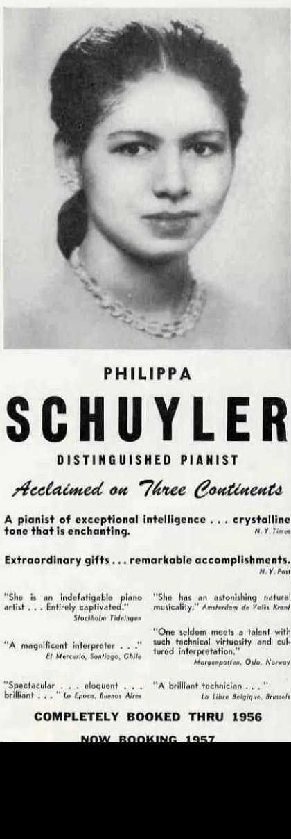 Philippa Schuyler 1956 advertisement