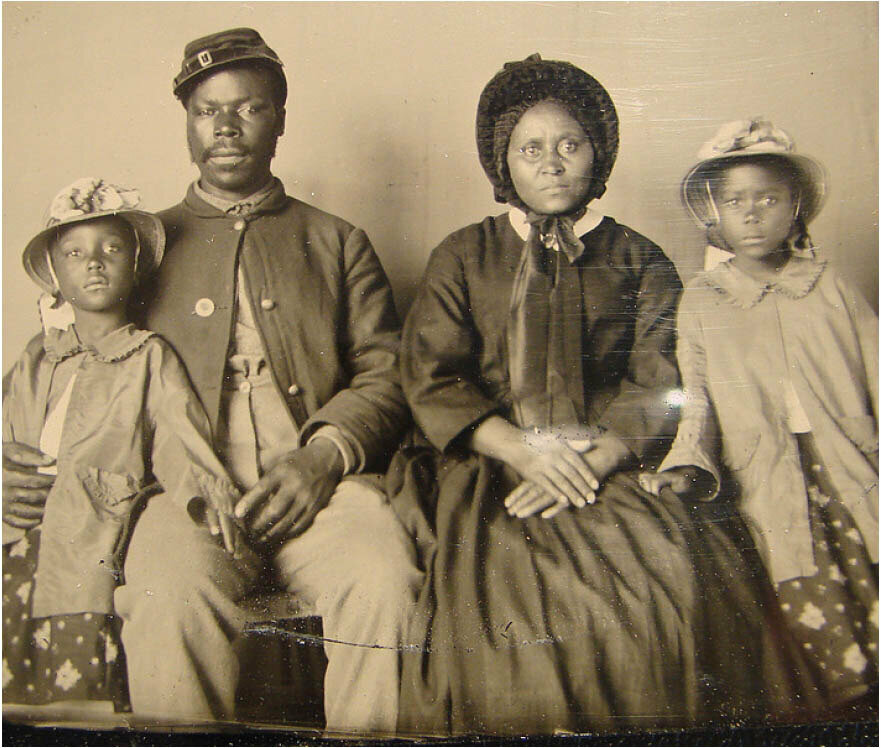 African American solider and family, circa 1863-65 Credit: http://www.neh.gov/
