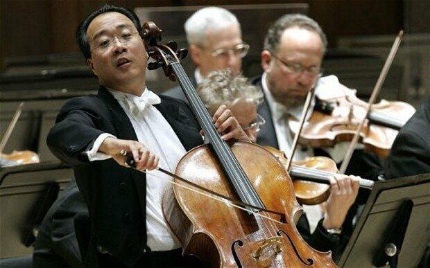 Cellist Yo-Yo Ma plays a solo with the Detroit Symphony Orchestra  Photo: AP
