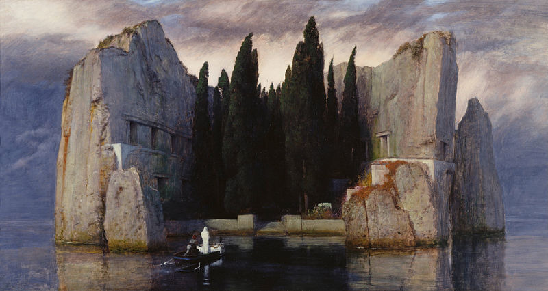 Böcklin: Die Toteninsel, 3rd version, 1883