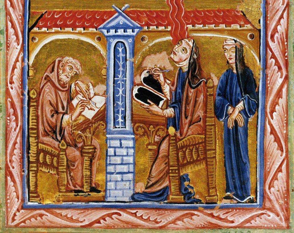 Hildegard receiving music from heaven