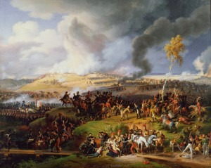 """Louis Lejeune: """"Battle of Moscow, 7th September 1812"""", painted 1822."""