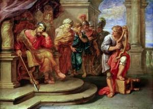 Erasmus Quellinus: Saul listening to David playing the harp