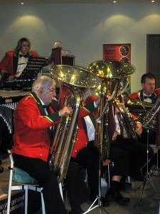 Traditional Tubas in a British brass band