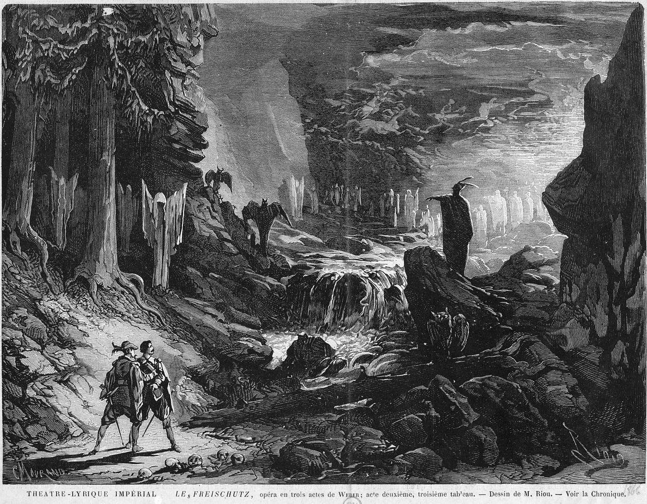 Charles Maurand, Le Freischütz - Wolf's Glen scene (Act 2, scene 3)