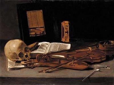 Leiden master, ca. 1635, Vanitas still life with skull