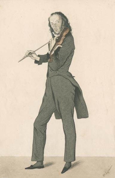 Nicolò Paganini in the 1830s