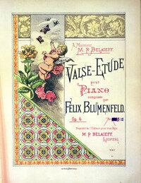 Blumenfeld: Valse Etude, Op. 4 © www.GClefPublishing.com