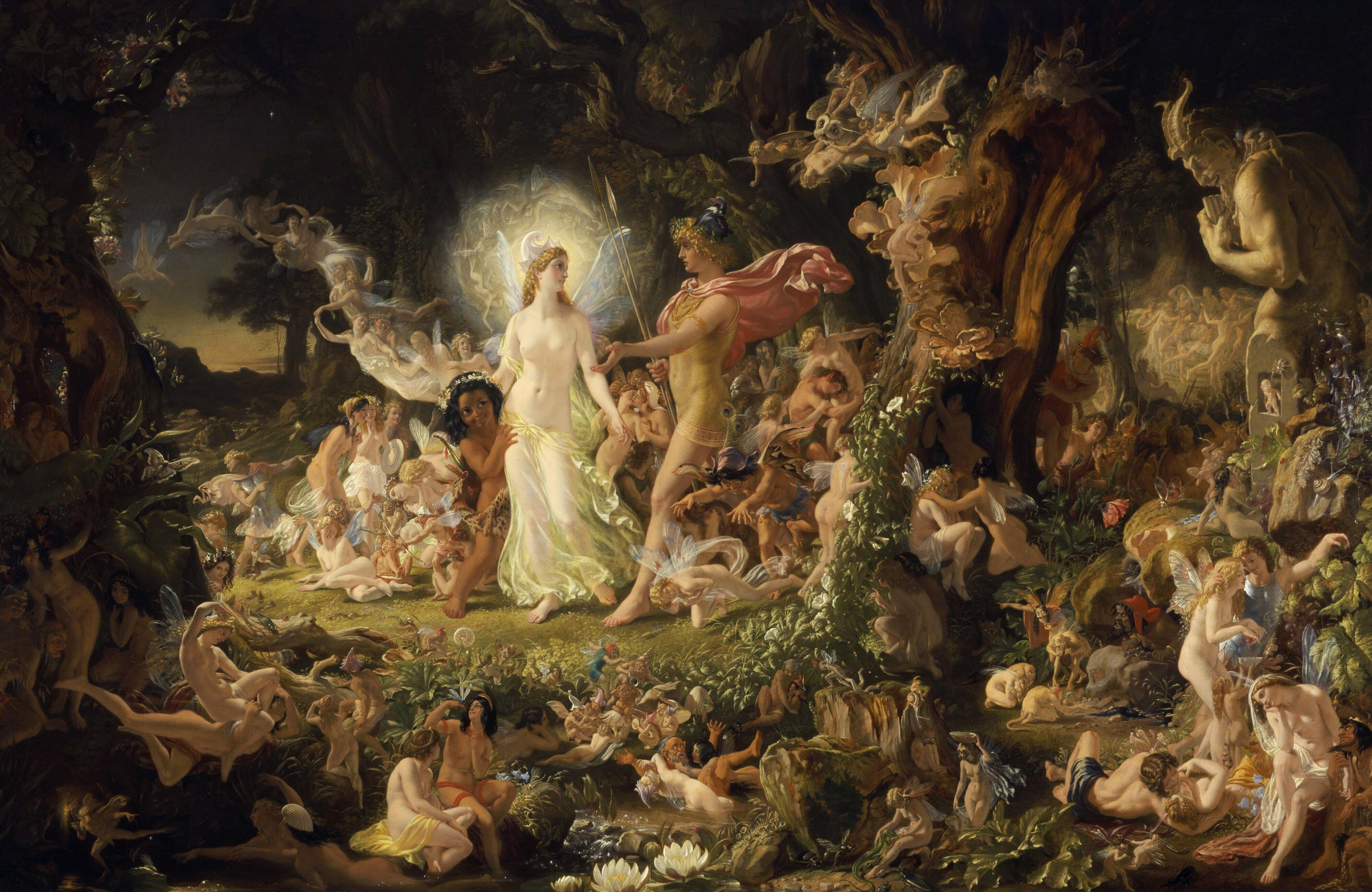 The Quarrel of Oberon and Titania by Joseph Noel Paton 1846