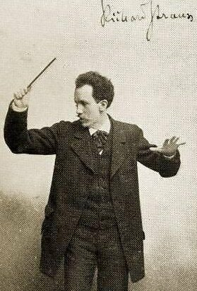STRAUSS, Richard conducting, 1890. German composer & conductor.