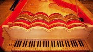 Take a bow: The viola organista's strings are played in the same way as a cello. Photo: Tomasz Wiech/AFP