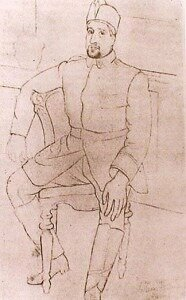 Picasso drawing of Apollinaire