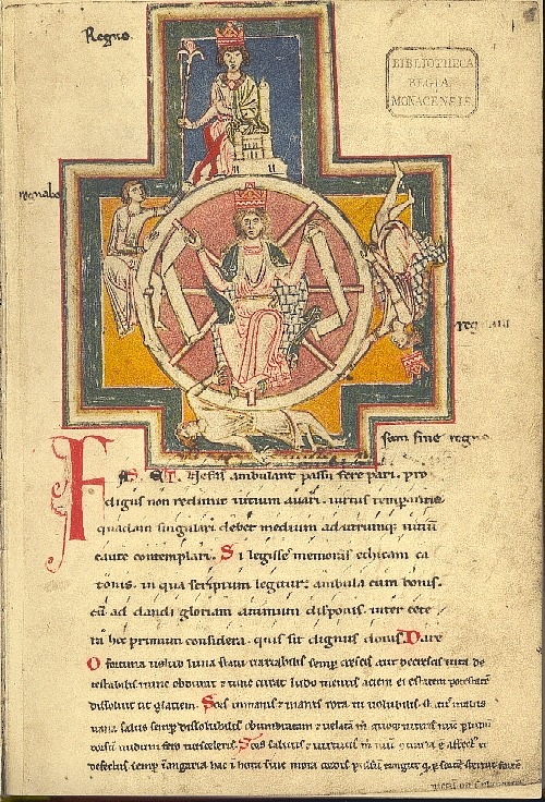 Fortune's Wheel from the Carmina Burana MS.