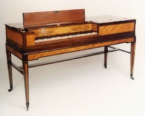 Square piano by Bury, c. 1789