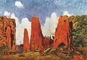 Bakst's designs for the Brigand's camp, Scene II