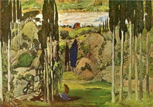 Bakst's designs for Scenes I and III