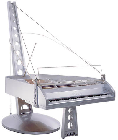Suspension piano by Seiler