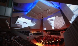 The New World Symphony performing the world premiere of 'Polaris' at the New World Center in Miami (© Rui Dias-Adios)