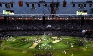 The London Symphony Orchestra performs in the Opening Ceremony of the London 2012 Olympic Games (Paul Gilham/Getty Images)