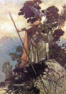 Arthur Rackham's Valkyrie