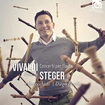 Maurice Steger, I Barocchisti and Diego Fasolis - Vivaldi Concerti per flauto - Artwork