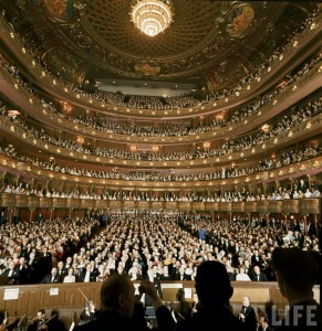 The Metropolitan Opera House in 1966. (Life Magazine)
