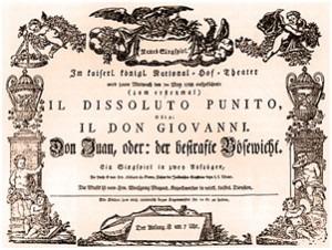Original playbill for Don Giovani