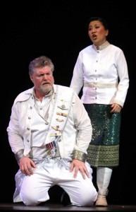 Jessica Chen as Brünnhilde and Phillip Joll as Wotan