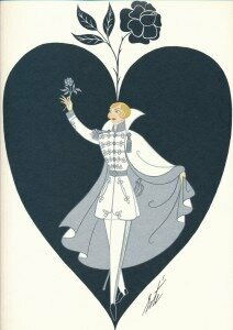 1980 cover for the Glyndebourne Opera by Erté, with the Knight of the Rose from Der Rosenkavalier