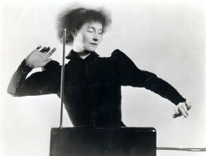 Lucie Rosen playing theremin
