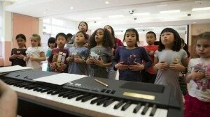 Children practice a dinosaur themed play at the Canadian Opera Company's After School Opera Program at the Pleasantview Community Centre in Toronto.Credit: Matthew Sherwood for The Globe and Mail