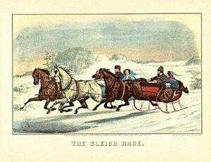 Currier and Ives: A Sleigh Race