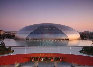 The National Center for the Performing Arts in Beijing.
