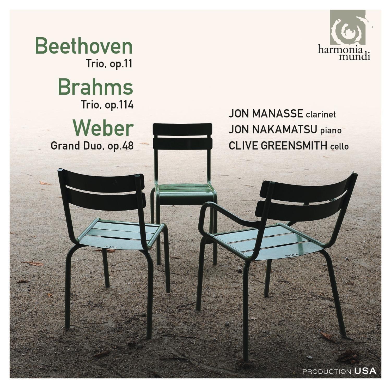 Jon Manasse, Jon Nakamatsu and Clive Greensmith - Beethoven, Brahms, Weber Trios & Duo - Artwork