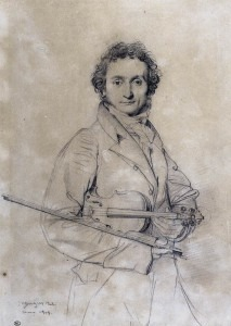 Niccolò Paganini by Jean Auguste Dominique Ingres