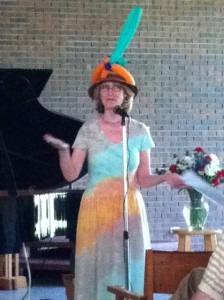 Wynn-Anne with a hard hat
