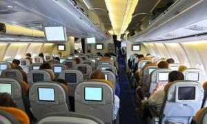 In-flight entertainment screens (Shutterstock.com)