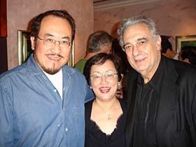 Placido Domingo, Martha, and Tian